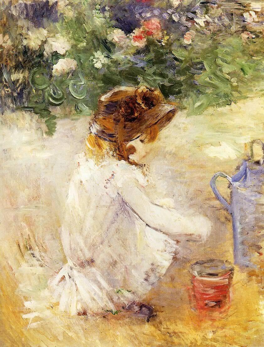 """""""Giocando nella sabbia"""" di Berthe Morisot"""